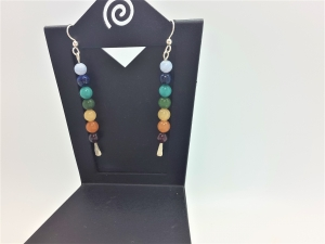 Chakra hammered earring wires