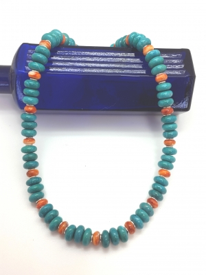 Dyed Howlite and Spiny Lobster