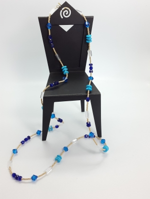 Multi-Beads Long Necklace