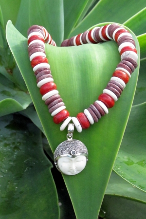 Agate and Buddha Pendant